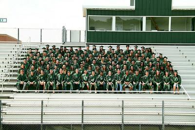 Seniors on Football Field, 5-25-2010