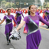 Matt Hamilton/Daily Citizen-News<br /> Color guard member Halea Rice, 16, marches with the band during the parade on Friday.