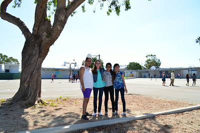 Students on the First Day of School at California Elementary