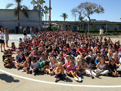 Students Gather at California Elementary