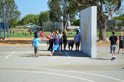 Students Playing on the First Day of School at California Elementary