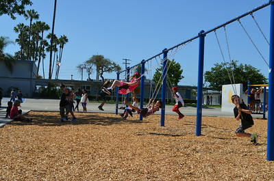 Students on the Playground at California Elementary