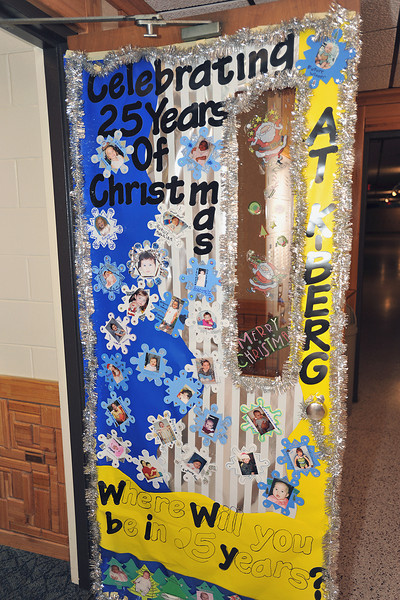 Congratulations to Homeroom 8B for the best decorated door in the Latin School.