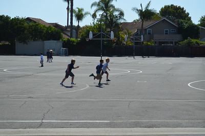 Students Racing on the Blacktop at Newport Heights