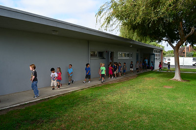 Students at Newport Heights on the First Day of School