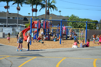 Students on the Playground at Newport Heights
