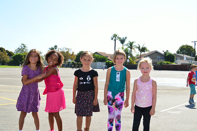 Students on the First Day of School at Newport Heights