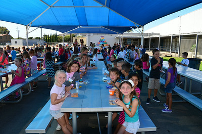 Students During Morning Break at Newport Heights