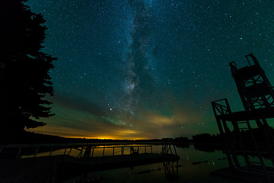 The milky way above swim dock