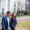 EvMBA students Caitlin Allen and Rajin Chauhan