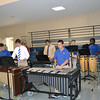 The percussion ensembled performed during a luncheon in Walker Forum.