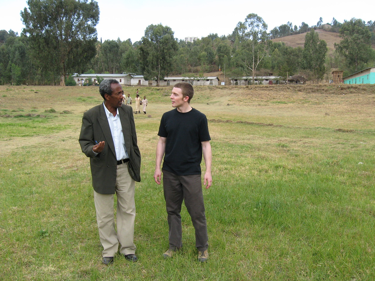 School Director with Link Ethiopia Volunteer