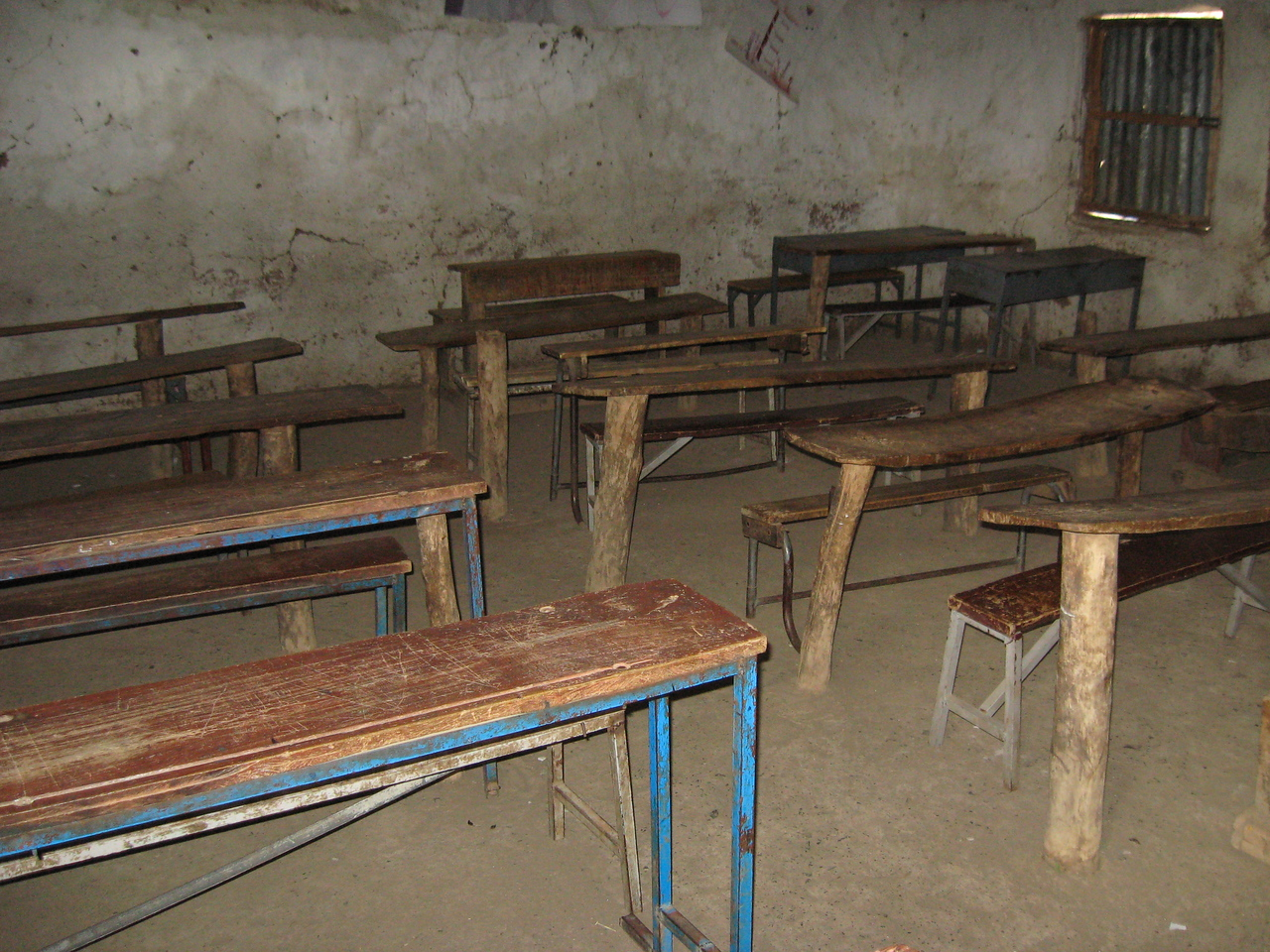 Old classroom furniture