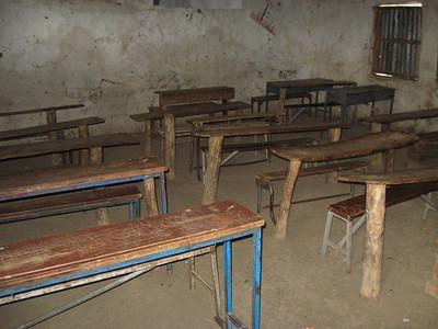 Old classroom furniture