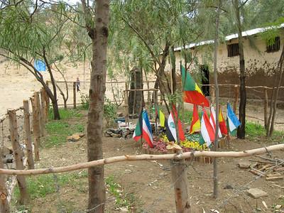 School flags & garden