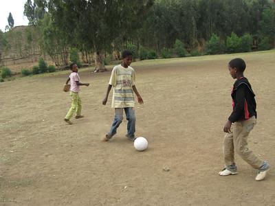 Football during breaktime