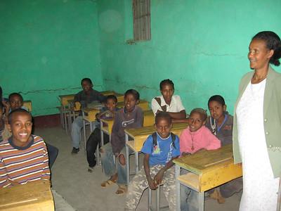 Class with their teacher