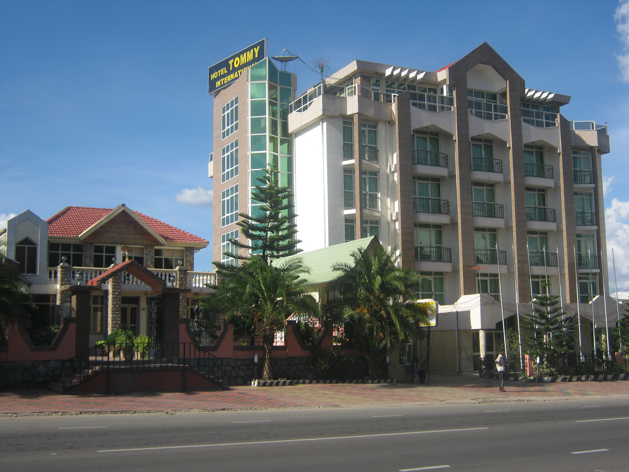 The local area - the Tommy International Hotel.