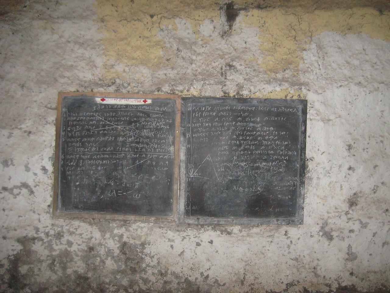 Classroom blackboard