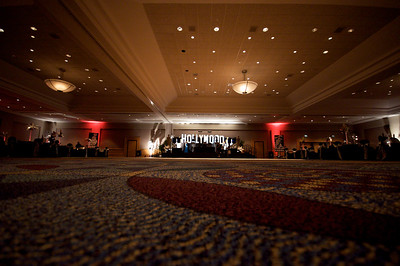 A great view of the room from carpet level before everyone arrives for the prom.