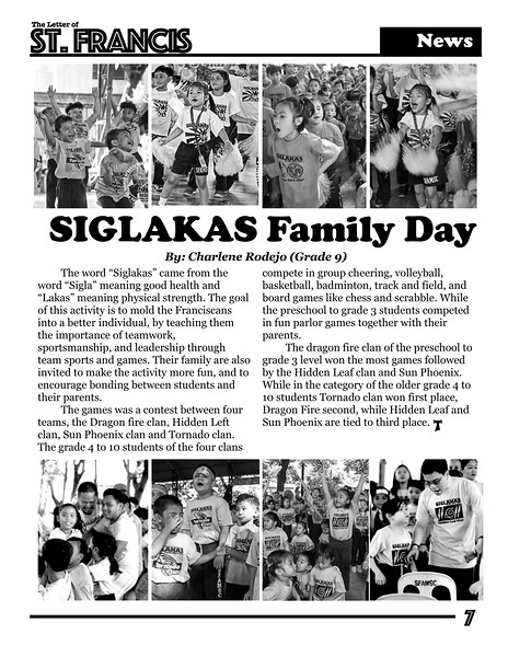 Letter of St. Francis Newsletter SY 2016-2017 Page 07