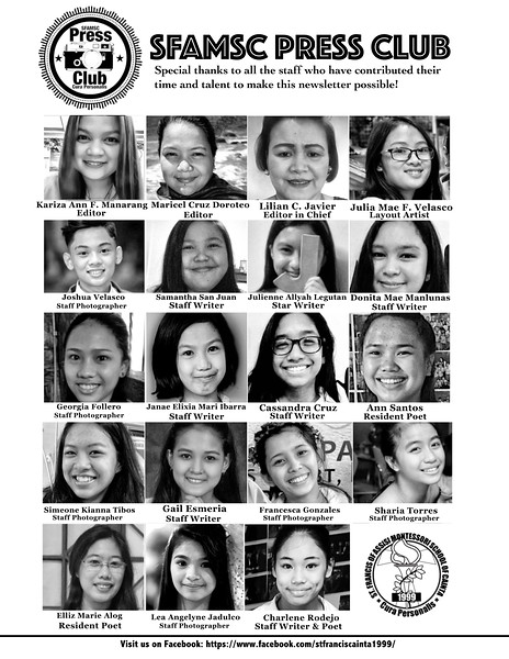 Letter of St. Francis Newsletter SY 2016-2017 Page 19
