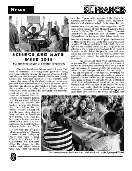 Letter of St. Francis Newsletter SY 2016-2017 Page 08