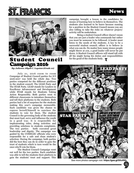 Letter of St. Francis Newsletter SY 2016-2017 Page 09