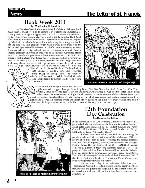 SFAMSC Newsletter December 2011 Page 02