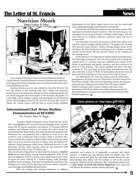 SFAMSC Newsletter December 2011 Page 05