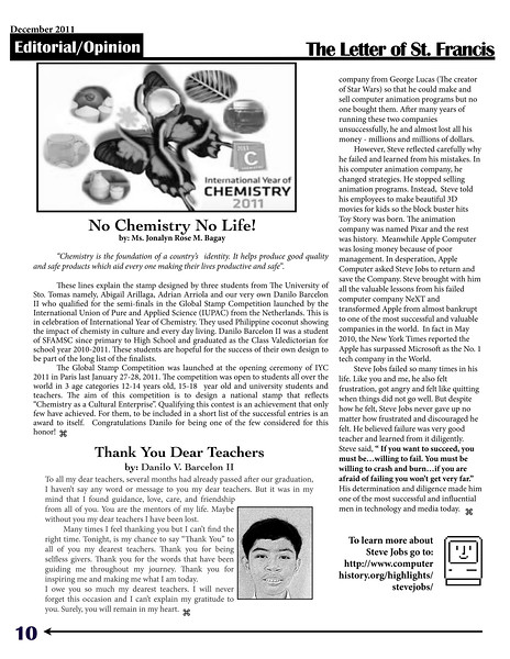SFAMSC Newsletter December 2011 Page 10