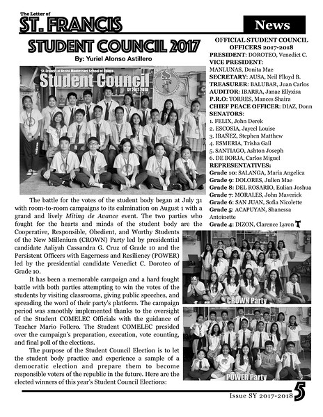 Letter of St. Francis Newsletter Issue 1 SY 2017-2018 Page 05