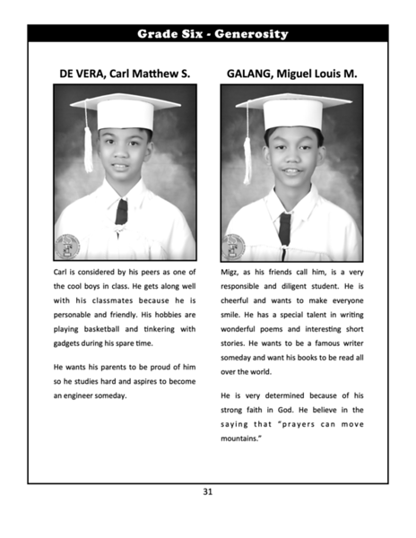 SFAMSC Yearbook SY 2011-2012