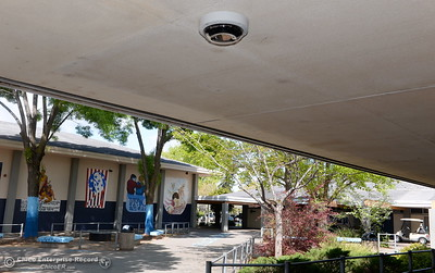 Security cameras are found recording activities throughout the campus at Pleasant Valley High School in Chico, Calif. Thurs. April 12, 2018. (Bill Husa -- Enterprise-Record)