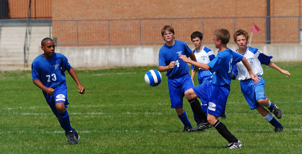 My son Jeffrey is the second from the left, the one with the ball at his elbow
