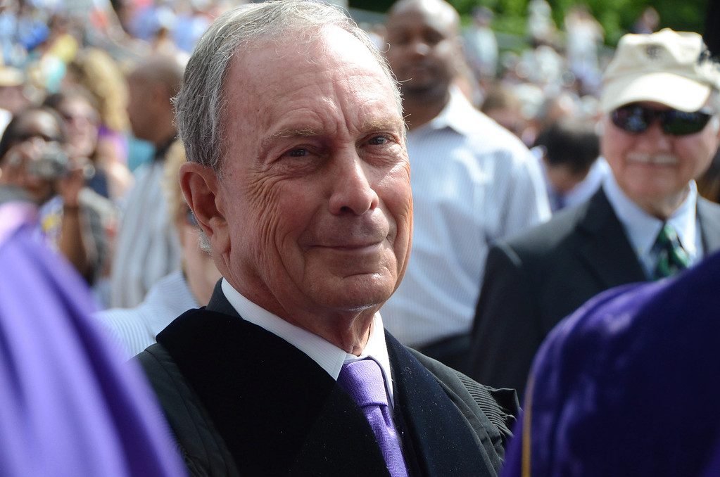. Former NYC Mayor Michael Bloomberg pauses for a moment during the procession from Chapin Hall to graduation exercises at the college\'s 225th commencement on Sunday, June, 8, 2014. Gillian Jones / Berkshire Eagle Staff / photos.berkshireeagle.com