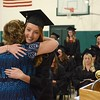 Surgical Technology graduate Samantha Cristofori is embraced by her instructor and department coordinator Jocelyne Hescock during McCann Technical School's Graduation Ceremony of the Postsecondary Programs in the school's gymnasium on Monday, June 13, 2016. Gillian Jones — The Berkshire Eagle | photos.berkshireeagle.com