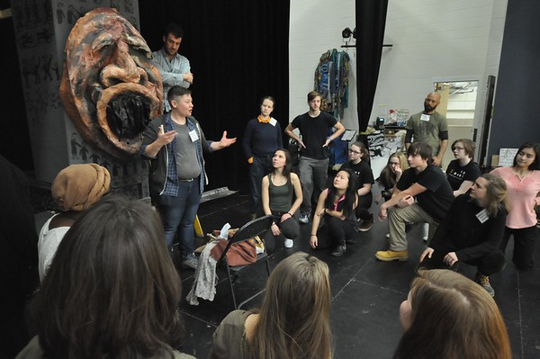 The Bread and Puppet Theater conducted a weeklong residency at the Berkshire Arts and Technology Charter Public School in Adams.<br /> <br /> GILLIAN JONES — THE BERKSHIRE EAGLE