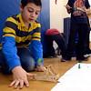 Jiluan Rocca fires a catapault at Stearns School