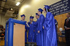 Gillian Jones/North Adams Transcript <br /> Drury High School seniors in the Advanced DHS Recording Class lead the audience in the class ode, a rewrite of the song 'How Far We've Come' by Matchbox 20 Thursday night during graduation exercises.