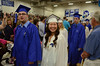 Gillian Jones/North Adams Transcript <br /> Drury High School students process into graduation exercises on Thursday night.
