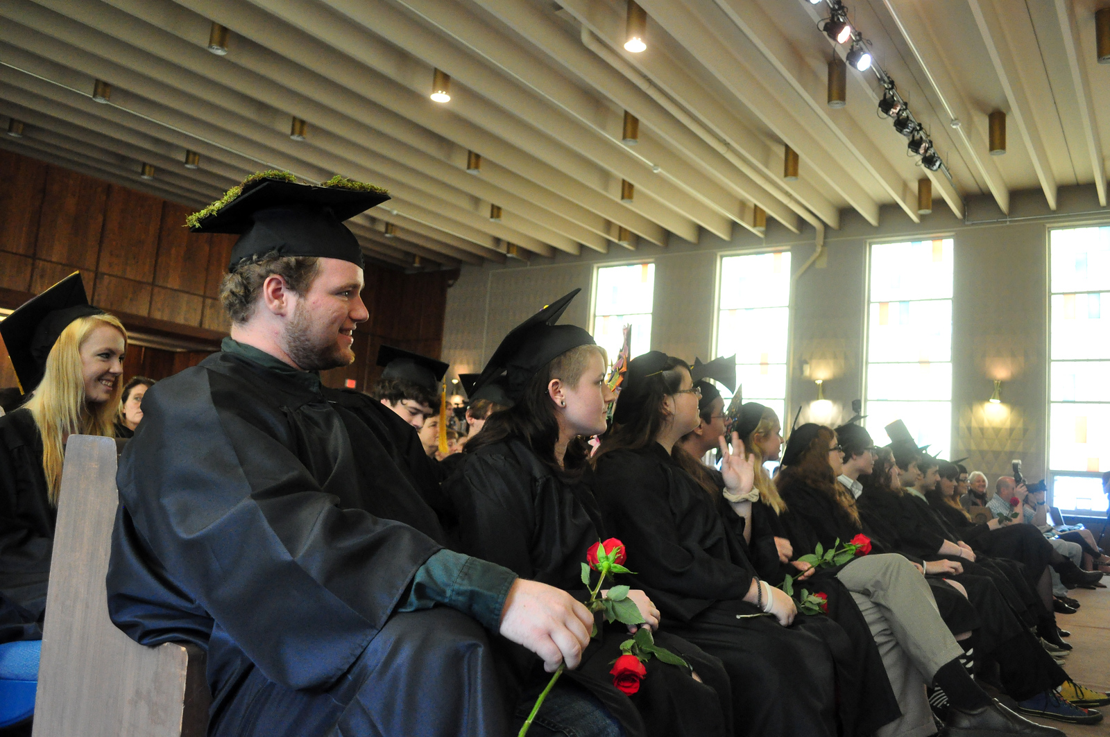 Jack Guerino/ North Adams Transcript<br /> The BART Charter School Class of 2013 listens to speeches at their graduation ceremony Saturday.