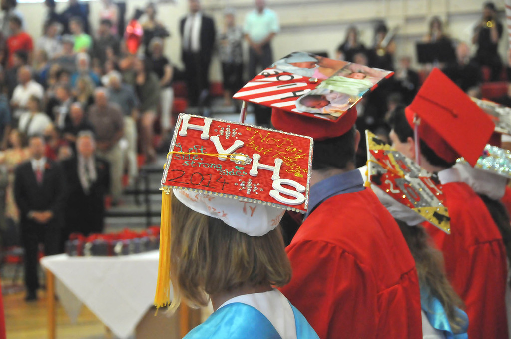 . Hoosac Valley High School Class of 2014 during the commencement on Friday, June 6, 2014. (Scott Stafford/Berkshire Eagle Staff)