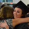 Gillian Jones/North Adams Transcript <br /> Kiersten Sweet hugs Terry LeClair after being pinned as a graduate in the medical assisting program at McCann Technical High School on Monday night. for post-secondary graduation exercises for 30.