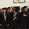 Gillian Jones/North Adams Transcript <br /> Thirty post-secondary graduates at McCann Technical High School ceremoniously move their tassels  Monday night during post-secondary graduation exercises.