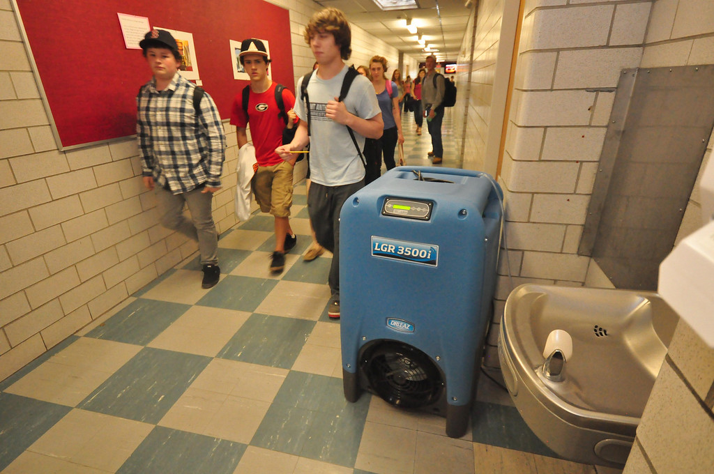. The humidity and other climate control issues at Mount Greylock Regional High School, are alleviated by humidifiers and fans throughout the building . Gillian Jones / Berkshire Eagle Staff / photos.berkshireeagle.com