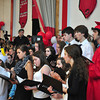 Jack Guerino/ North Adams Transcript<br /> Senior Chorus members join the ensemble for a last performance during graduation at Mt. Greylock Regional High School Saturday.