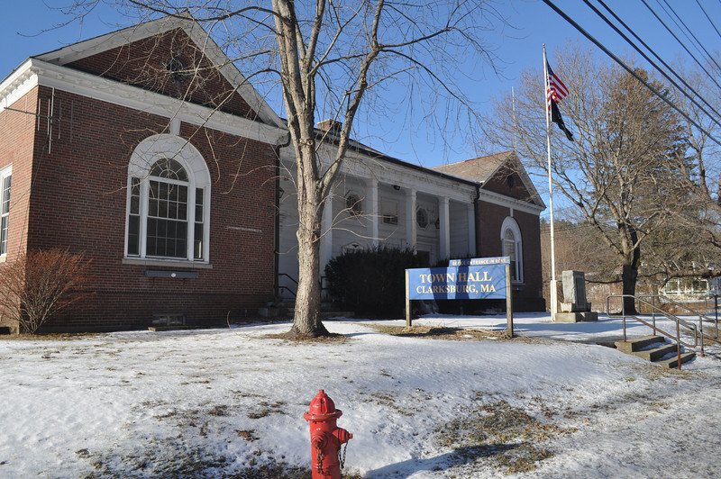 Clarksburg selectmen met in the Town Hall Wednesday night to discuss the possibility of putting a preschool in a room upstairs in the Town Hall. (Jack Guerino/North Adams Transcript)