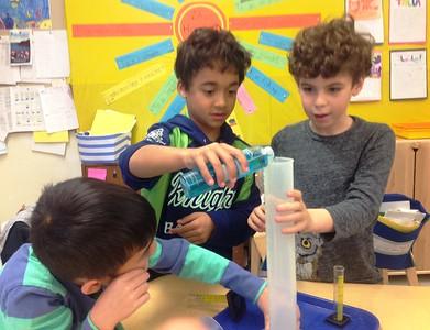Fieldston Lower Second Graders Study Liquid Volume