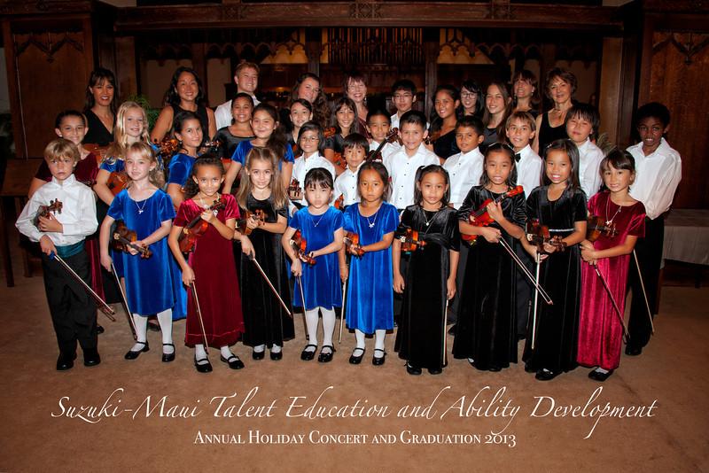 Suzuki Maui Violin Holiday Concert.  Maui Event Photographer, Mieko Photography